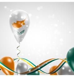 Flag of Cyprus on balloon vector image