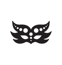Flat icon in black and white masquerade masks vector