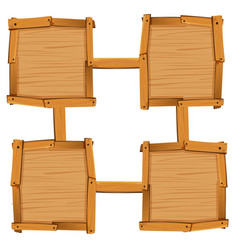 four wooden square as board templates vector image