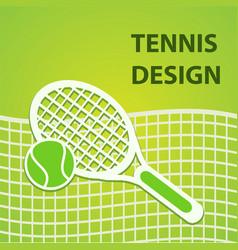 green tennis sport design eps10 vector image