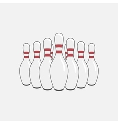 Group of Bowling Pins vector image