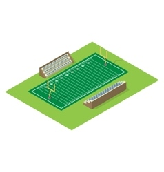Isometric american football field vector image