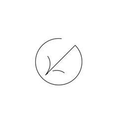 left down arrow icon vector image