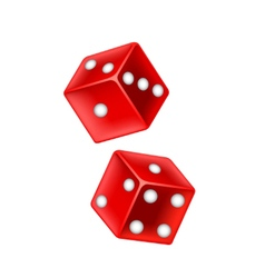 Lucky dice isolated on white vector image