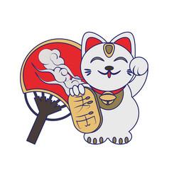 Maneki neko cat design vector