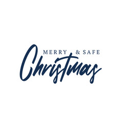 merry christmas lettering typography lettering vector image