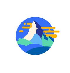 modern mountain emblem vector image