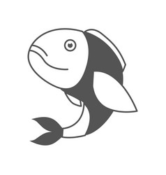 Monochrome silhouette of bass fish vector