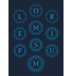 Monogram Logos Set Graphic Design vector image