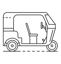 Motor tricycle icon outline style vector
