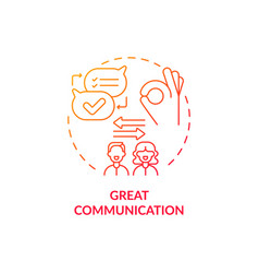 Mutual trust red concept icon vector