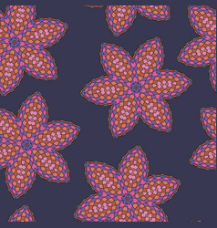 pattern seamless colorful abstract floral vector image