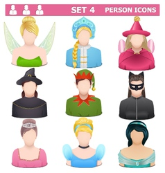 Person Icons Set 4 vector