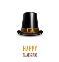 Pilgrim hat Thanksgiving symbol vector image