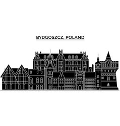 Poland bydgoszcz architecture city skyline vector