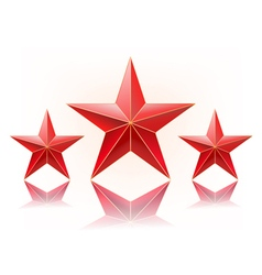 Red stars vector