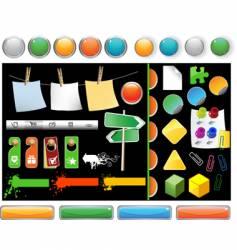 Set of website buttons vector