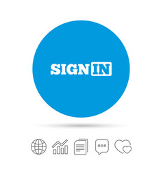 Sign in icon join symbol vector