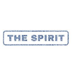 Spirit textile stamp vector