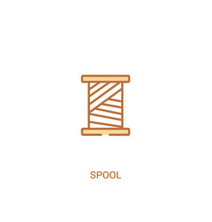 Spool concept 2 colored icon simple line element vector