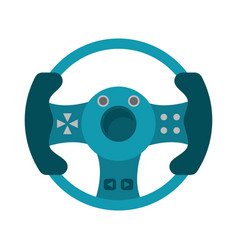 steering wheel video game vector image