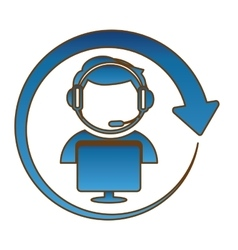 Technical support assistant icon vector