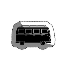 Tourism van vehicle icon vector