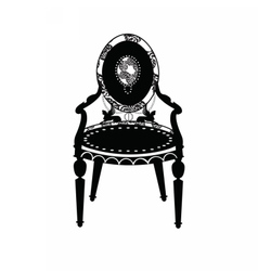 Vintage Classic chair in rounded shape vector