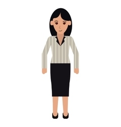 Woman with elegant business suit stripe vector