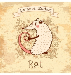 Chinese Zodiac - Rat vector image vector image