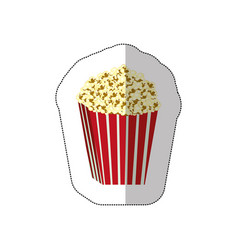 color background sticker of butter popcorn vector image vector image