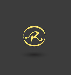letter r logo icon design vector image