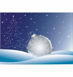 night winter background vector image vector image