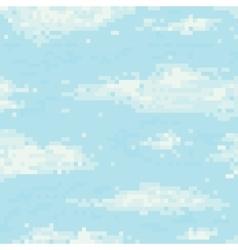 Pixel art sky seamless pattern vector image vector image