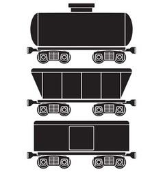 wagons vector image