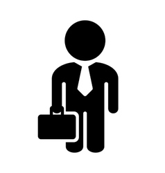 Businessman Simple Icon on White Background vector image vector image