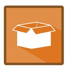 emblem box open icon vector image