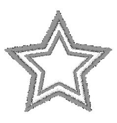 halftone star vector image vector image