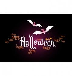 Halloween typographic banner vector image
