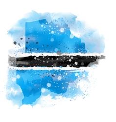 Map of Botswana Watercolor paint vector image vector image