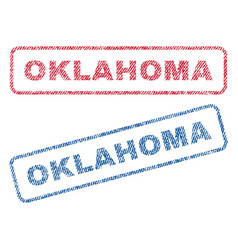oklahoma textile stamps vector image