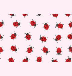 seamless pattern ladybug vector image vector image