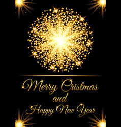 christmas greeting card and happy new year invitat vector image vector image