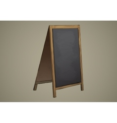 Empty Menu Black Board Isolated vector image