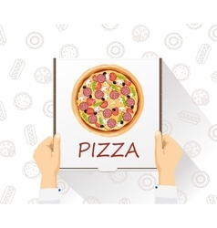 food delivery banner Pizza delivery Flat vector image