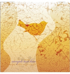 Ornamental bird on grunge background vector image vector image