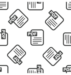 PDF file pattern vector image vector image