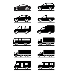 Road transportation icons set vector image vector image