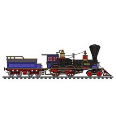 the vintage american steam locomotive vector image vector image
