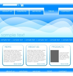 editable website template vector image